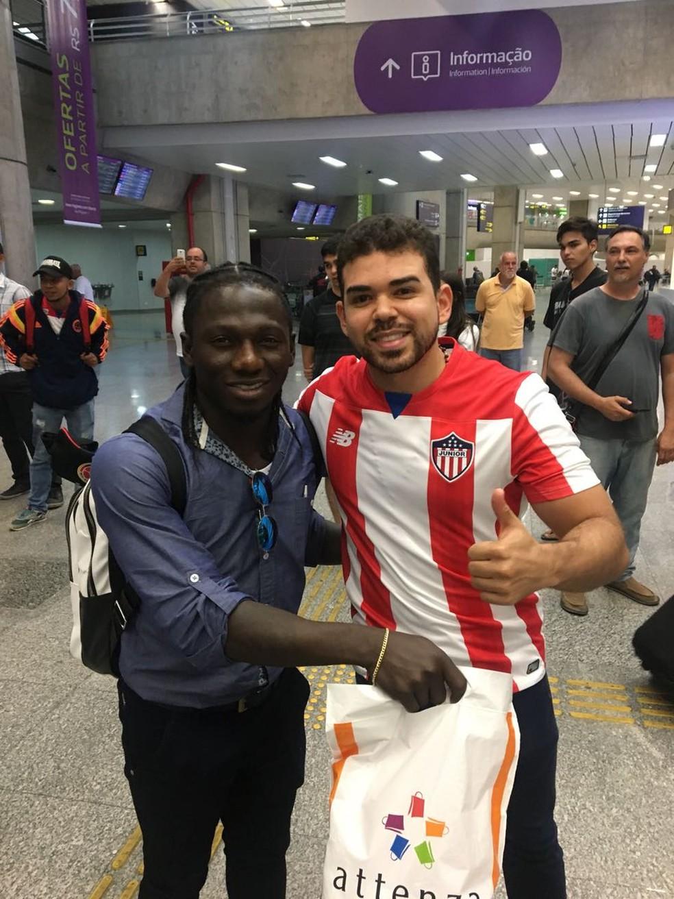 Yimmi Chará é um dos destaques do Junior Barranquilla (Foto: Divulgação/Twitter Junior Barranquilla)