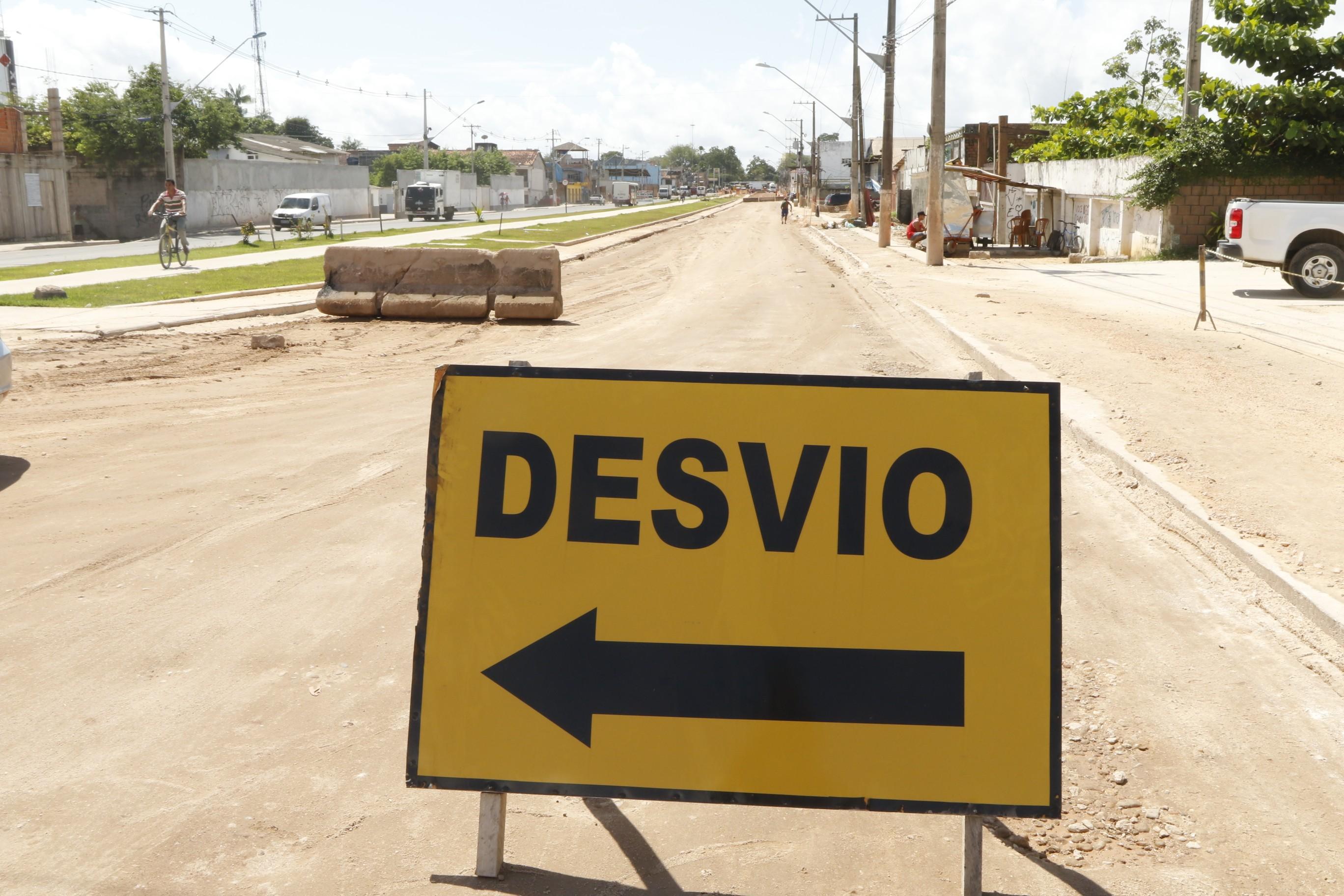 Trecho da Bernardo Sayão é interditado para última etapa de asfaltamento