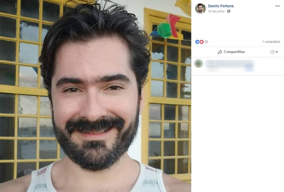 Professor Danilo Fortuna foi baleado durante assalto em Salvador — Foto: Reprodução/Facebook