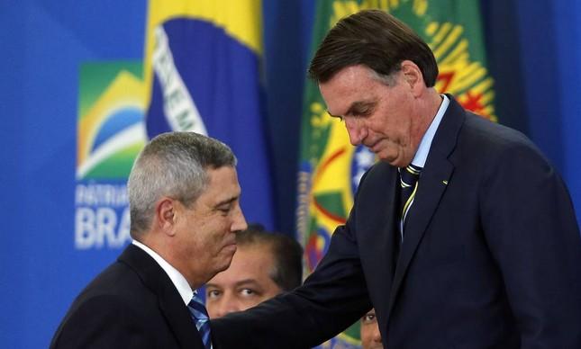 O presidente Jair Bolsonaro e o general Walter Braga Netto