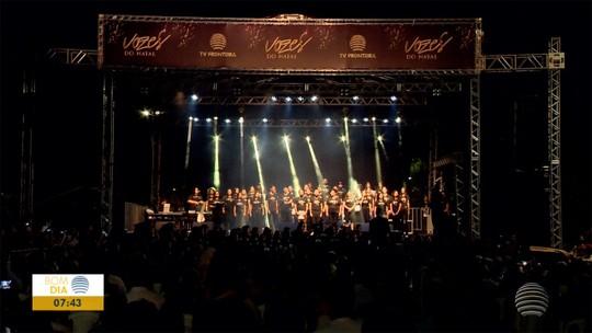 1ª Cantata Vozes do Natal emociona o público no Parque do Povo; veja FOTOS