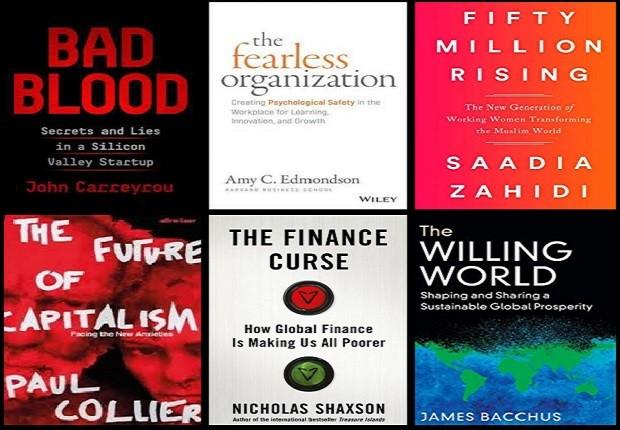 Alguns dos títulos selecionados pelo Financial Times como os melhores livros de 2018 (Foto: Reprodução)
