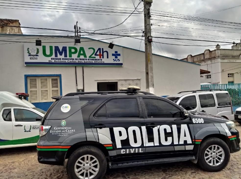Diretor clínico de unidade médica de Baturité foi procurado para ser notificado de decisão que o afasta do cargo, mas não foi encontrado — Foto: Polícia Civil do Ceará/Divulgação