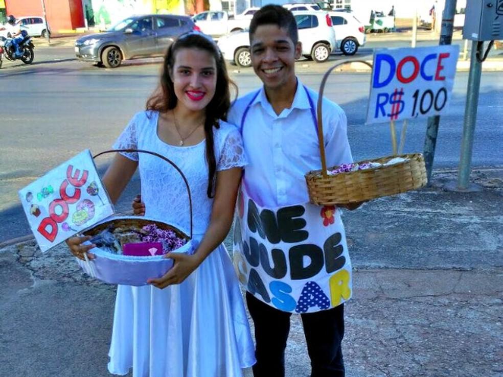 Maria Rafaela e João Paulo namoram há dois anos e pretendem se casar em 2019 (Foto: Maria Rafaela Silva dos Santos/ Arquivo pessoal)
