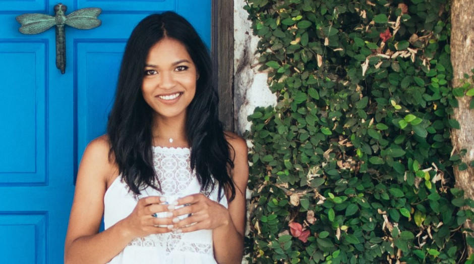 A empreendedora Sashee Chandran, fundadora da Tea Drops (Foto: Divulgação)