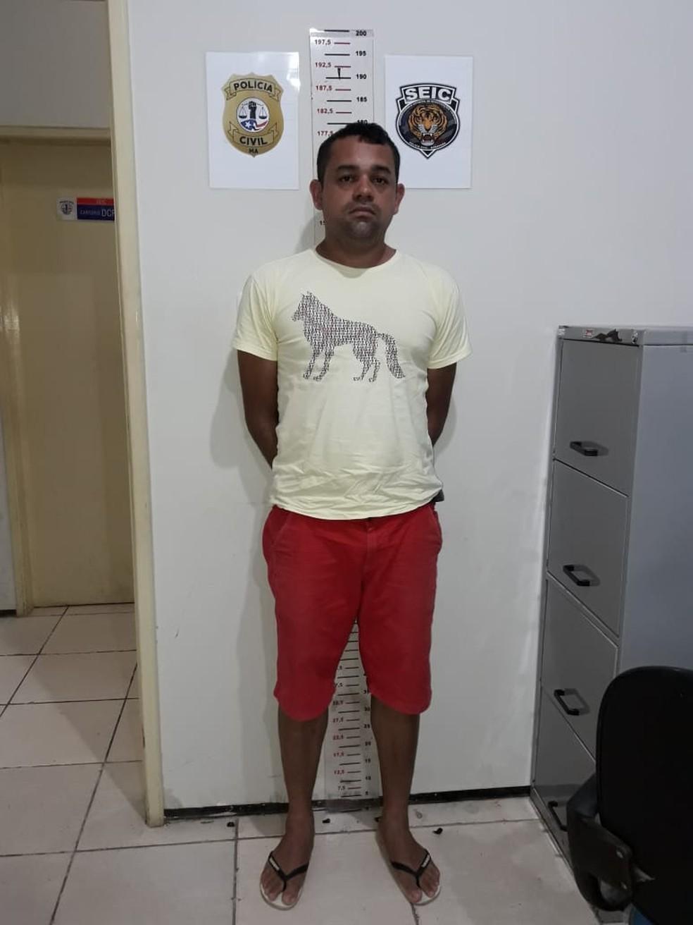 Valdenir Coelho Granja foi encaminhado  para o Complexo Penitenciário de Pedrinhas em São Luís — Foto: Divulgação/Polícia