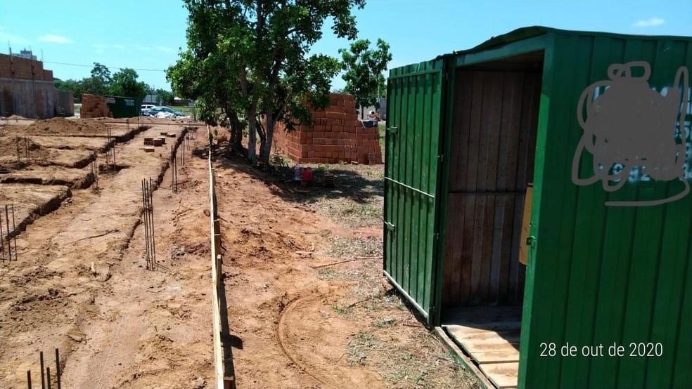 Container onde estava escondido o equipamento furtado — Foto: Polícia Civil/Divulgação