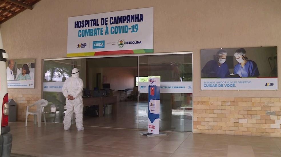 Hospital de Campanha de Petrolina — Foto: Reprodução / TV Grande Rio