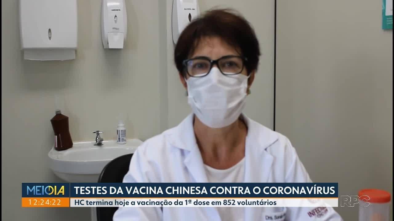 Testes da vacina chinesa contra o coronavírus