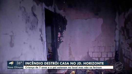 Incêndio destrói casa em Tangará da Serra ninguém se feriu
