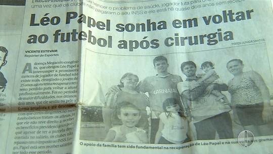 Léo Papel supera grave problema de saúde, mas futebol fica na saudade