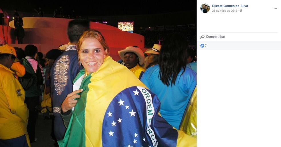 Elizete Gomes foi tricampeã Sul-Americana de heptatlo e disputou o Pan 2007 no Rio de Janeiro (Foto: Reprodução/Facebook)