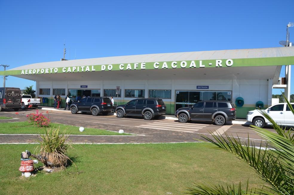 Aeroporto Capital do Café em Cacoal  — Foto: Magda Oliveira/G1