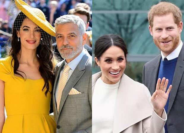 Amal e George Clooney serão padrinhos de filho de Meghan Markle e Harry (Foto: Getty Images)