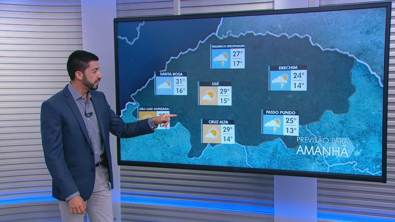 Terça-feira (19) será de chuva em algumas cidades do RS