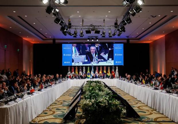Michel Temer discursa durante Sessão Plenária Mercosul (Foto: Alan Santos/PR)