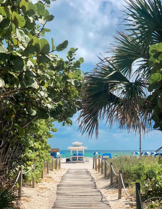 Ana Paula Siebert exibe praia em Miami (Foto: Reprodução)