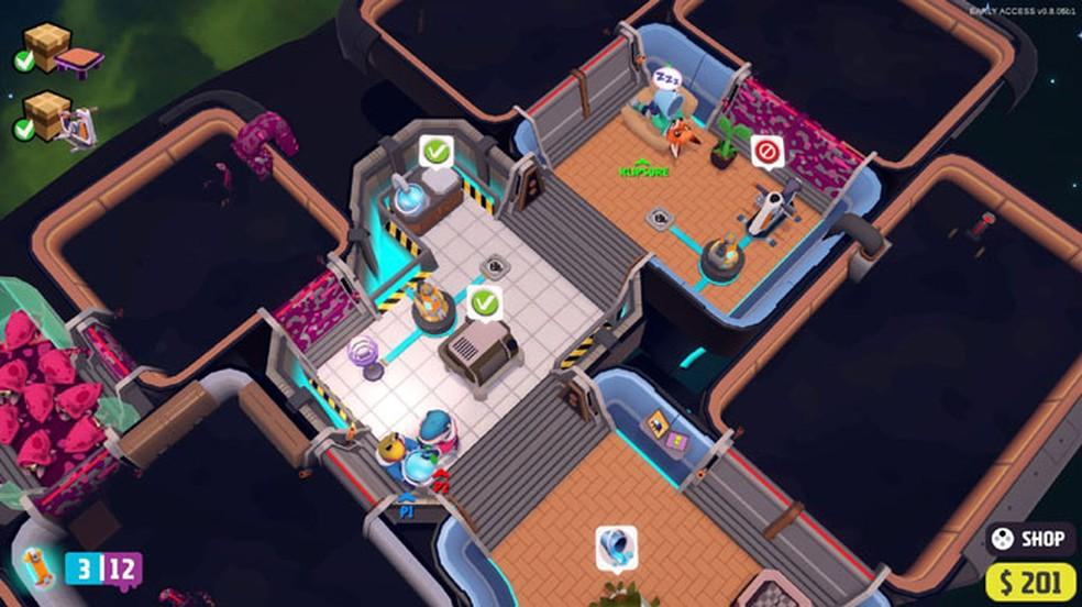 Out of Space: Couch Edition traz divertidas confusões em multiplayer do estúdio brasileiro de Chroma Squad — Foto: Reprodução/Steam