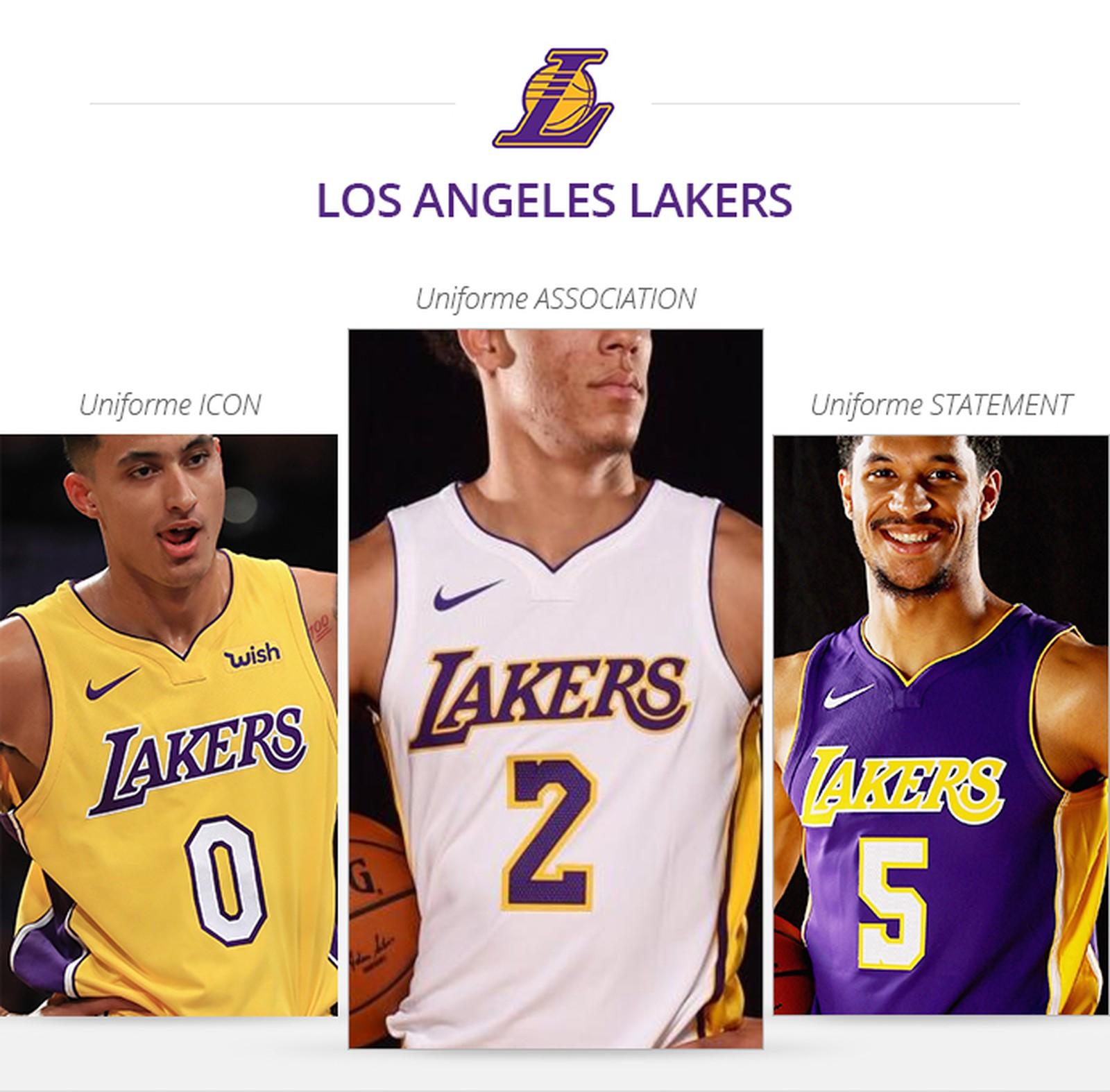 Uniformes Lakers Saison 2017/18