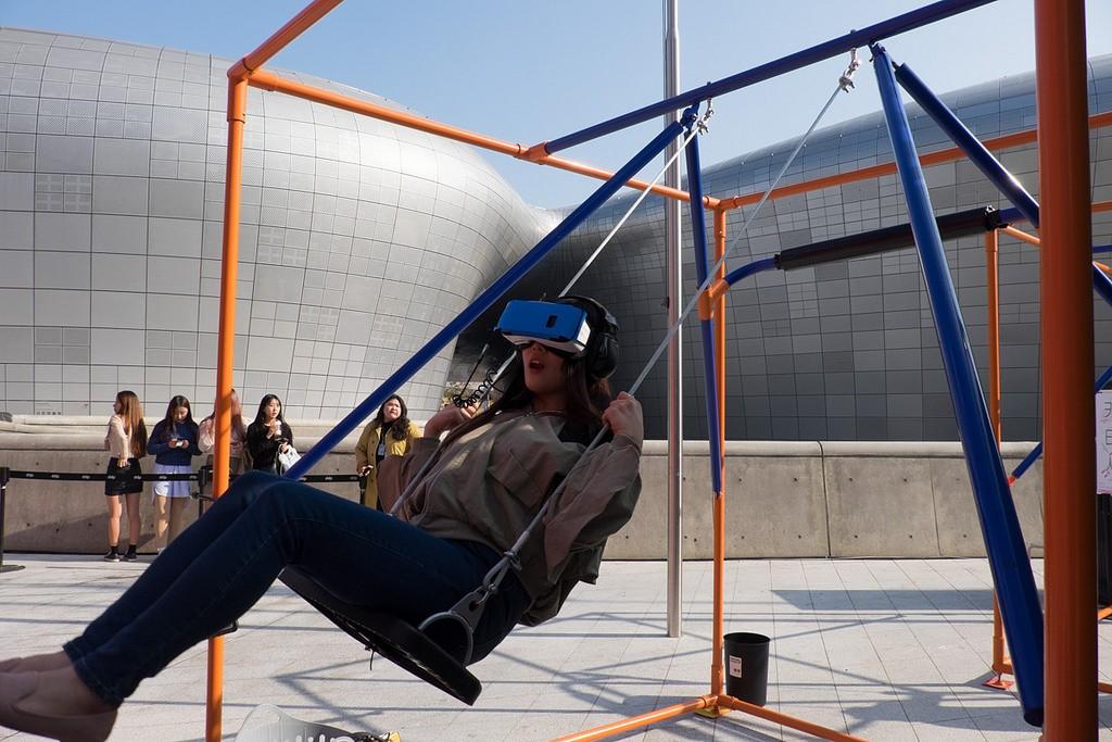 VR Playground em Soul, na Coreia do Sul, em dezembro de 2017 (Foto: Reprodução/Thrill Laboratory)