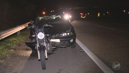 Acidente entre carro e moto mata duas pessoas na Rodovia Campinas-Mogi