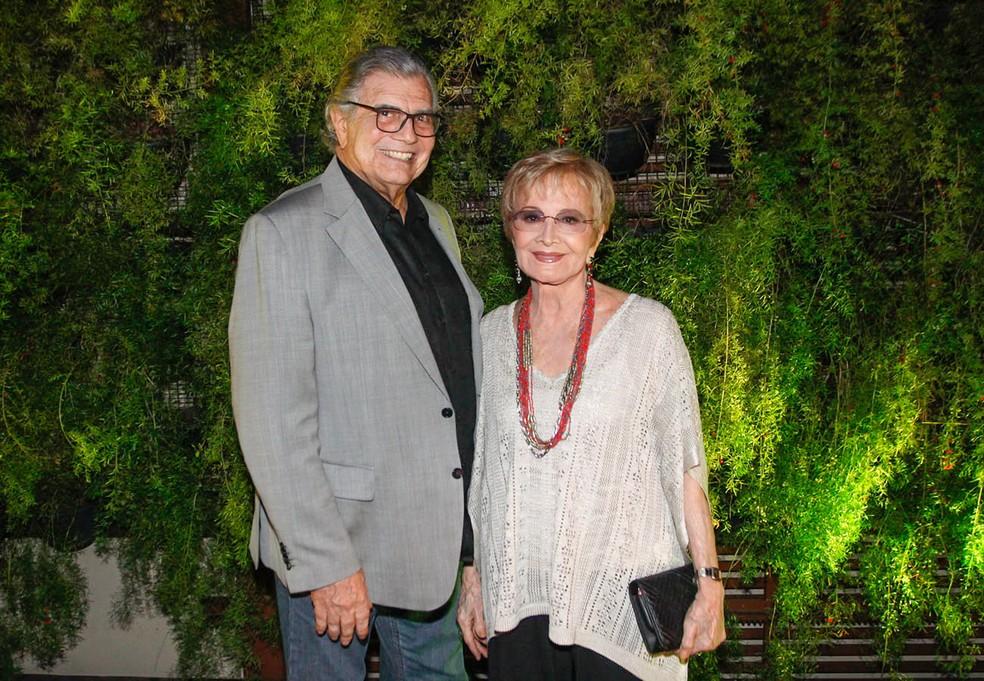 Tarcísio Meira e Glória Menezes, em foto de março de 2016 — Foto: Celso Tavares/G1