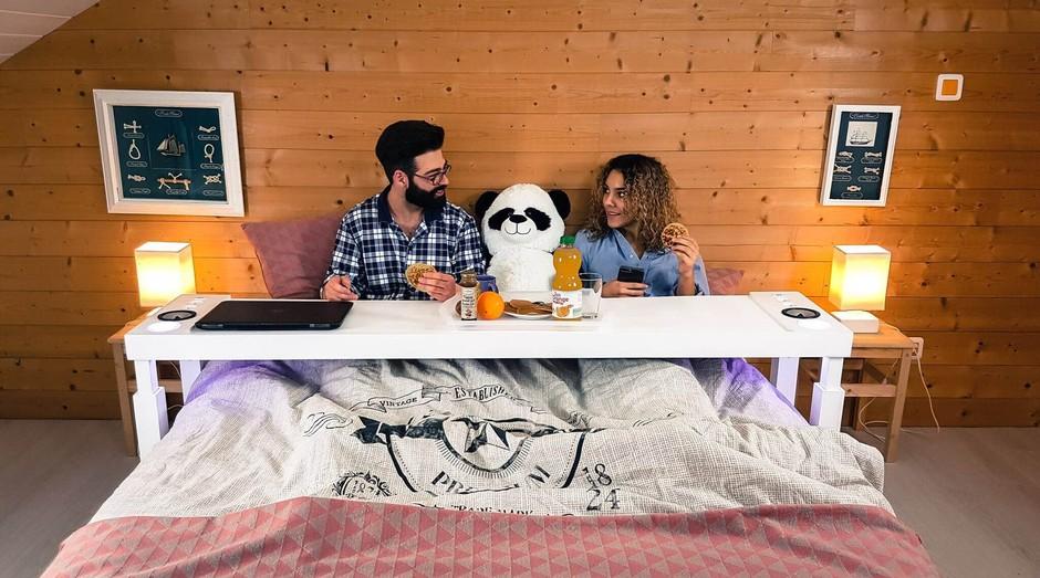Bedchill, mesa para quem gosta de trabalhar da sua cama (Foto: Divulgação)