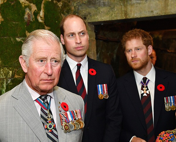 Príncipe Charles, William e Harry (Foto: Getty Images)