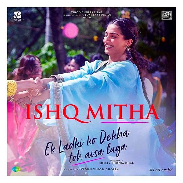 A atriz indiana Sonam Kapoor no cartaz de Ek Ladki Ko Dekha Toh Aisa Laga (Foto: Instagram)