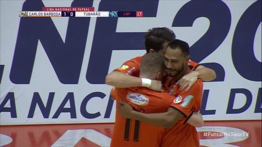 Em jogo emocionante, Carlos Barbosa vence Tubarão por 3x2 e lidera a Liga Nacional de Futsal