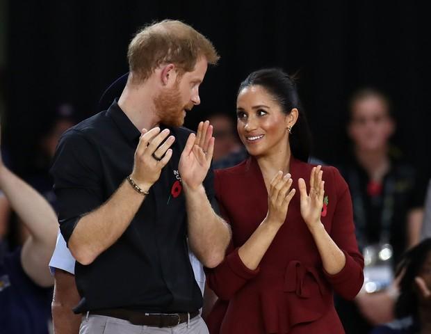 Meghan Markle e Príncipe Harry na Austrália (Foto: Getty Images/Reprodução)