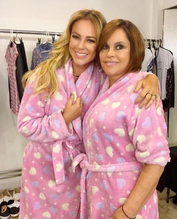 Paolla Oliveira e a mãe (Foto: Reprodução)