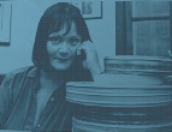 Hilda Machado, numa foto provavelmente dos anos 1970, no período em que trabalhou na Embrafilme e na produção de filmes de Nelson Pereira dos Santos (Foto: Beatriz Albuquerque)
