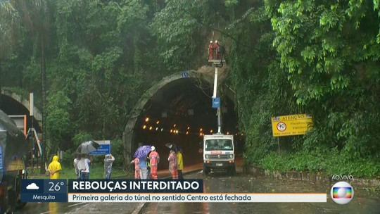 Prefeitura fecha uma galeria do túnel Rebouças no sentido Centro