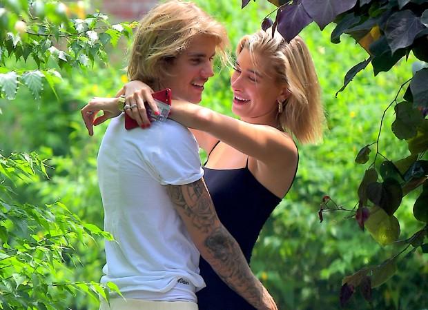 Justin Bieber e a namorada, Hailey Baldwin (Foto: Grosby Group)