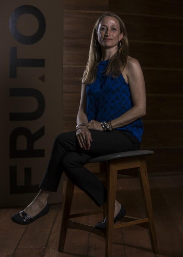 Céline Cousteau durante palestra no FRUTO - Diálogos do Alimento (Foto: Ricardo Dangelo/Fruto)