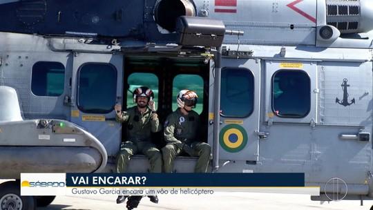 """""""Vai Encarar?"""" mostra belezas da Região dos Lagos do Rio da porta de helicóptero da Marinha"""