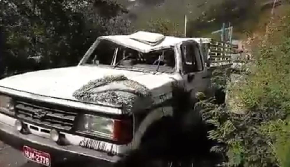 Veículo capotou quando perdeu força na subida de serra, diz polícia (Foto: Paulo Rocha/Arquivo pessoal)