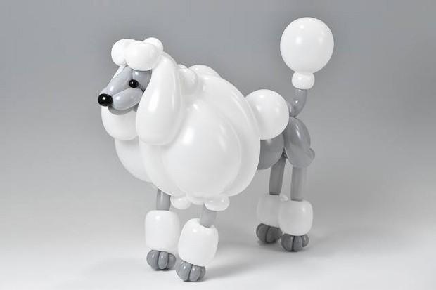 Artista faz esculturas de animais com balões infláveis (Foto: Reprodução)