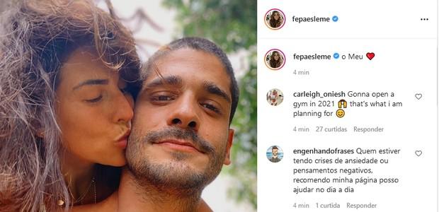 Fernanda Paes Leme e o namorado, Victor Sampaio (Foto: Reprodução/Instagram)