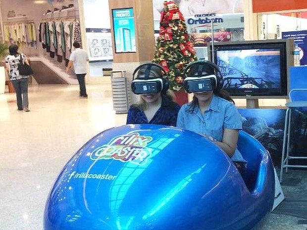 Simulador de montanha russa Rilix Coaster (Foto: Shopping RioMar Fortaleza/Divulgação)