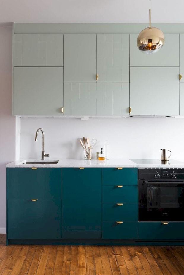 Décor do dia: reforma de cozinha em tons de verde (Foto: Niklas Hart / Divulgação)