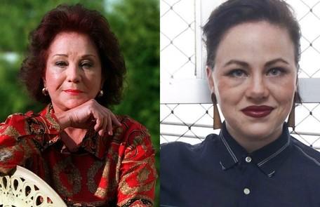 Karine Teles, que esteve recentemente em 'Malhação', interpretaLolita Rodrigues, uma das melhores amigas de Hebe Divulgação - TV Globo