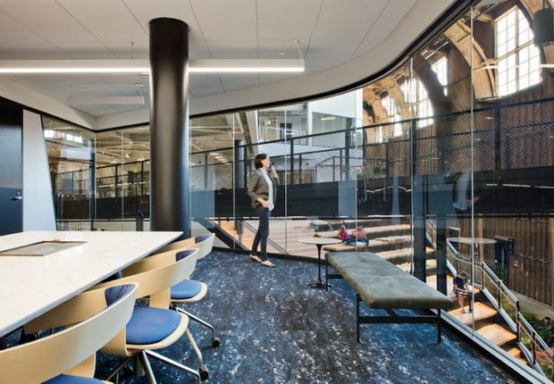 Novo escritório do Google, em Los Angeles   (Foto: Google por Connie Zhou)