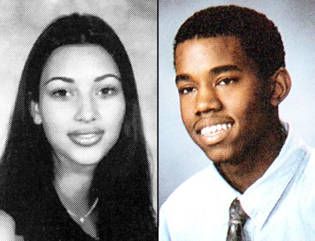 Kim Kardashian e Kanye West na adolescência (Foto: Reprodução)