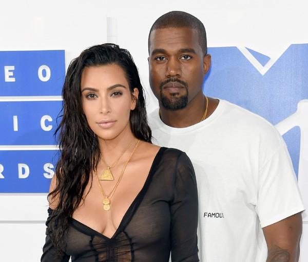Kim Kardashian e Kanye West (Foto: Getty Images)