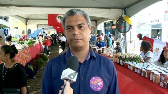 André Moreira fala sobre mobilidade urbana em dia de campanha no ES
