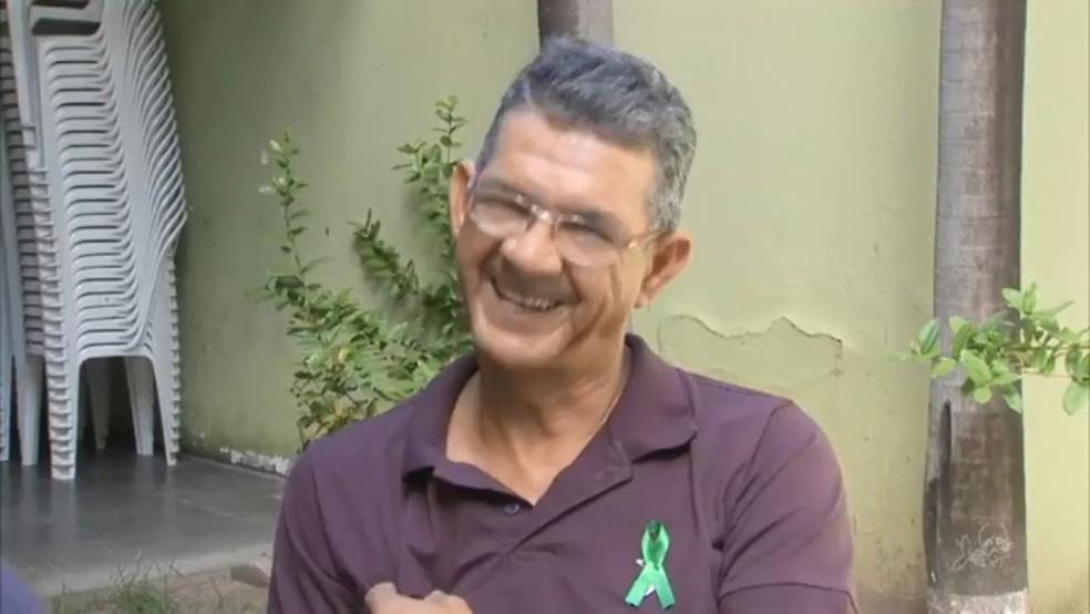 Antônio Pereira sofreu acidente há 20 anos e já recebeu dois novos corações (Foto: TV Verdes Mares/Reprodução)
