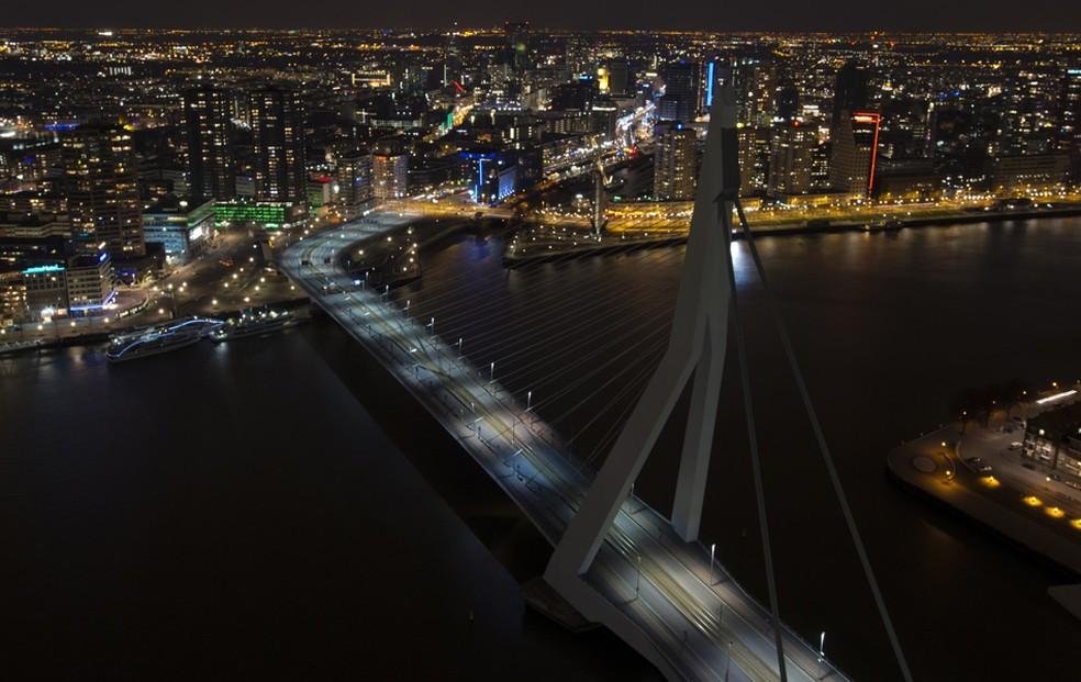 A cidade holandesa de Roterdã — Foto: Marcel Antonisse/AFP