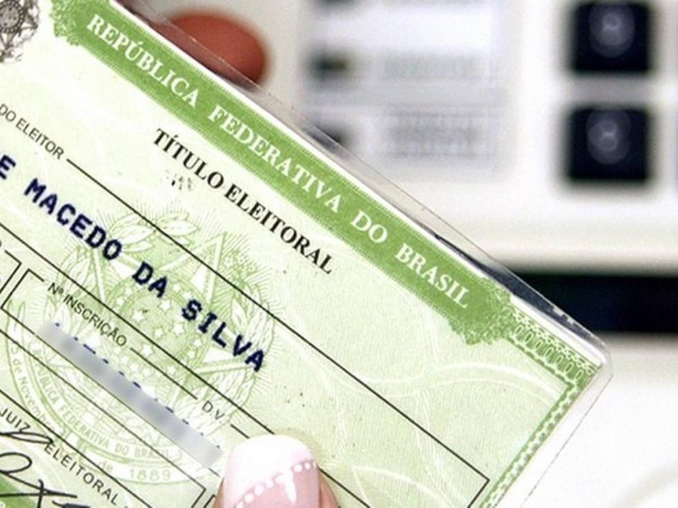 Título de eleitor; TRE; TSE; recadastramento biométrico; biometria (Foto: TSE/Divulgação)